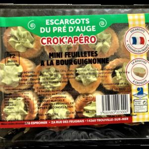 mini feuilletés d'escargot à la bourguignonne au beurre aillé et persillé