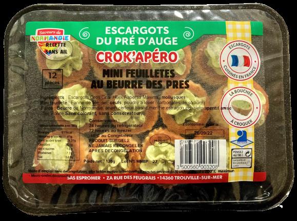 mini feuilletés d'escargots au beurre des prés